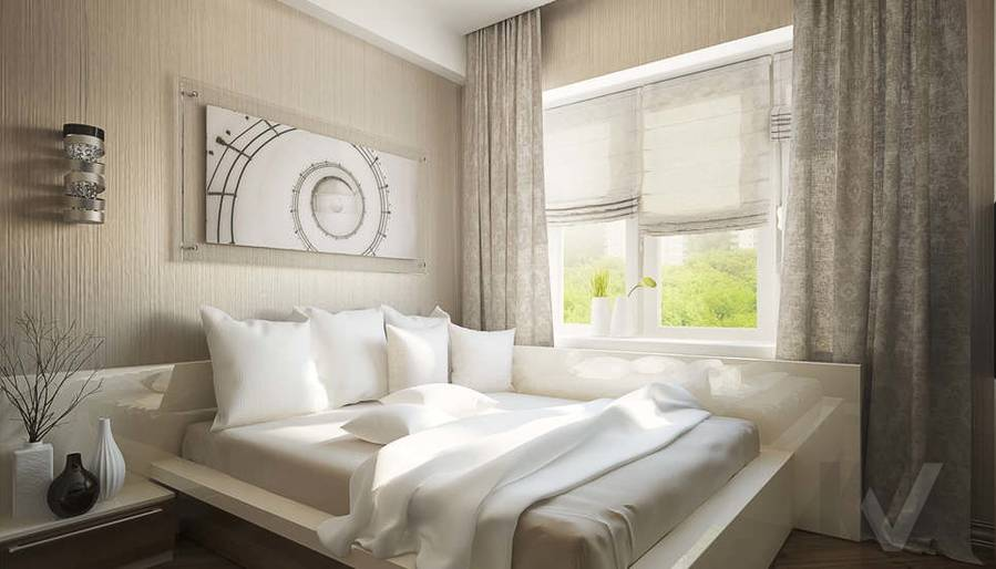 Дизайн квартиры на Старом Арбате, спальня - 2