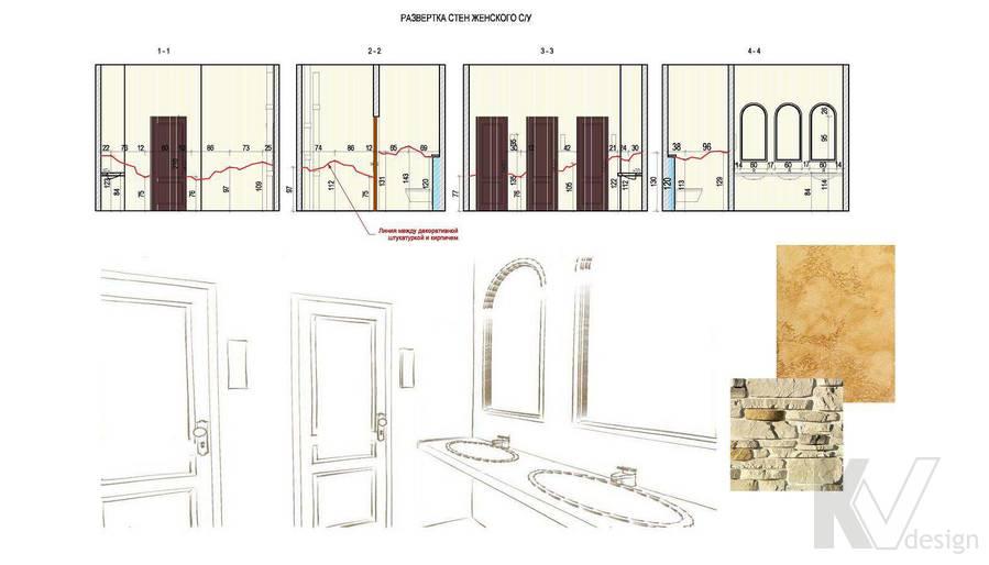 Дизайн ресторана, разрез-2