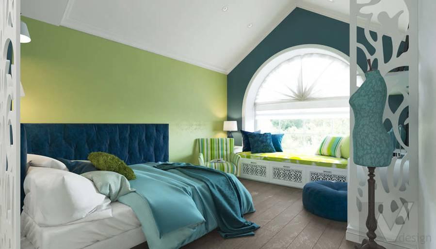 Дизайн спальни в коттедже, КП «Vita Verde» - 4