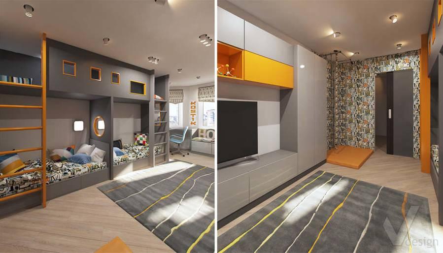 дизайн детской комнаты в квартире П-3М, Владыкино - 5