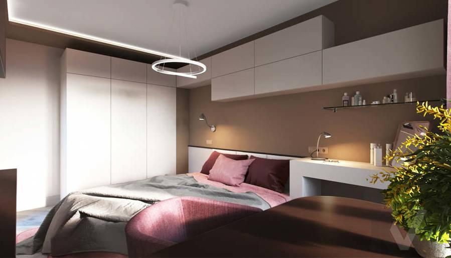 дизайн спальни в 3-комнатной квартире, Войковская - 3