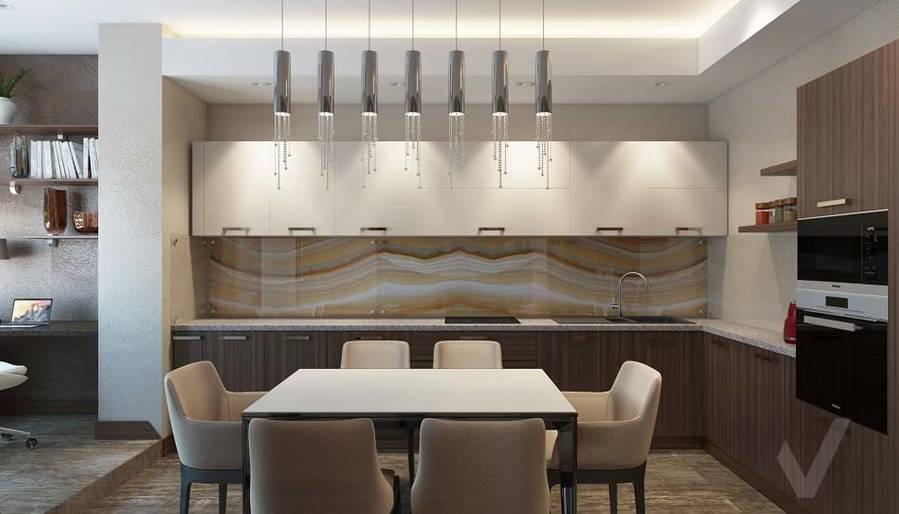 Дизайн кухни в двухкомнатной квартире, ЖК Розмарин - 1
