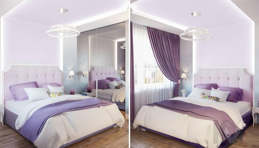 Дизайн спальни в квартире на Ленинском проспекте - 2