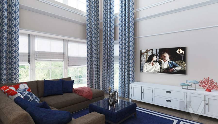 Дизайн гостиной в коттедже, КП «Vita Verde» - 3