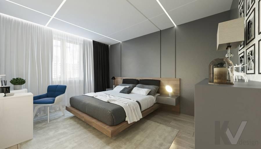 Спальня в 3-комнатной квартире П-44Т, Медведково - 2