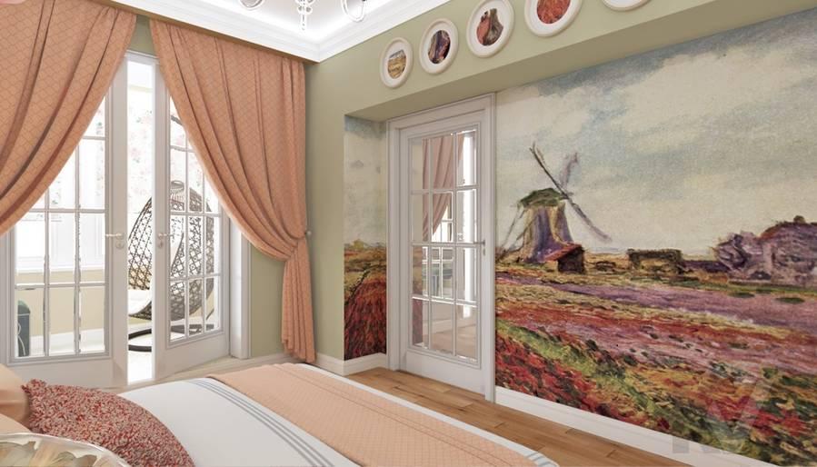 дизайн спальни в 3-комн. квартире башни Вулыха - 1