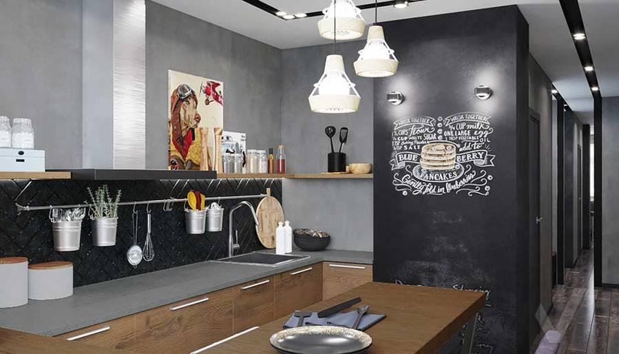 Дизайн кухни в квартире П-44, м. Кузьминки - 2