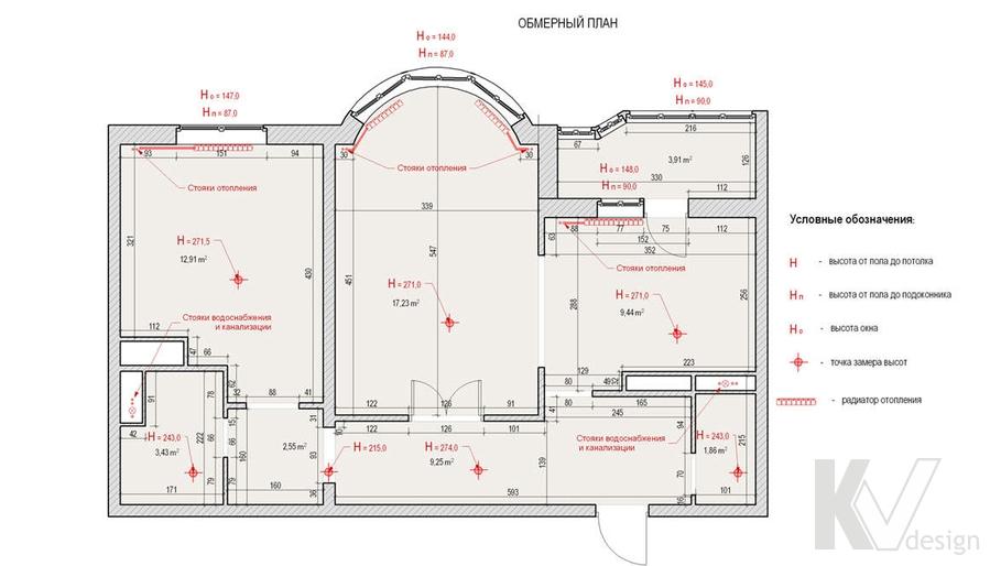 Дизайн квартиры в Марьино, план