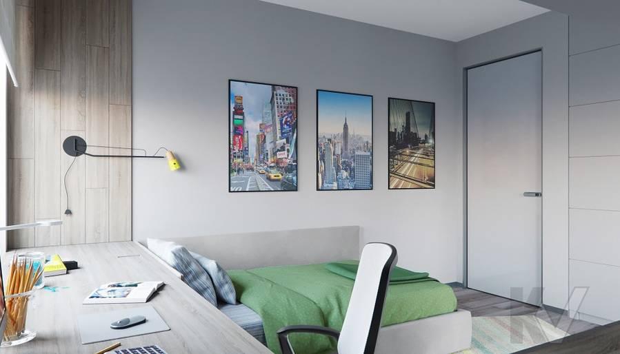 Детская комната в проекте объединения квартир, Мытищи - 3