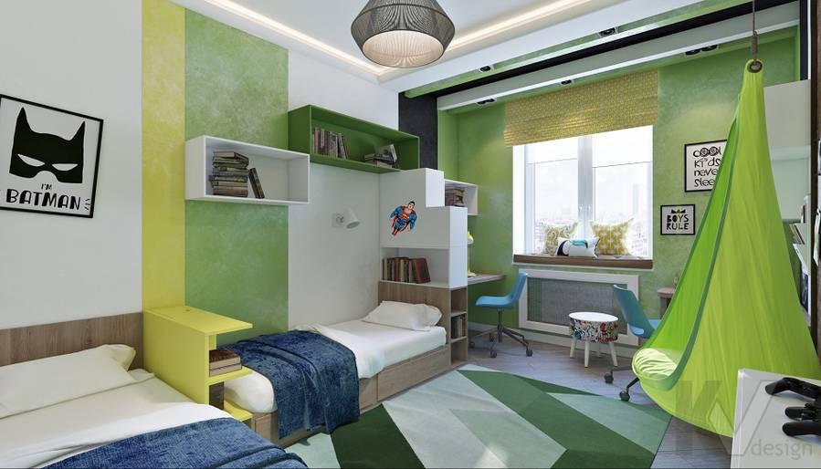 дизайн детской мальчика в 3-комнатной сталинке, ВДНХ - 1