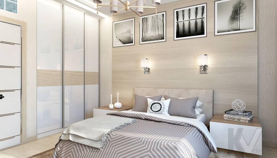 Дизайн спальни в квартире, ЖК Авеню-77 - 4