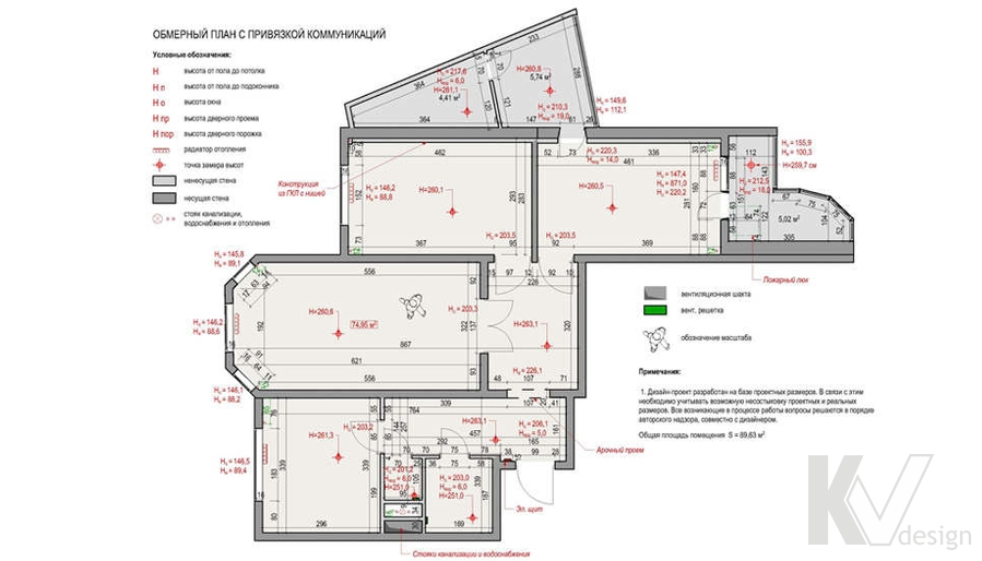 планировка в 3-комн. квартире, Москворечье