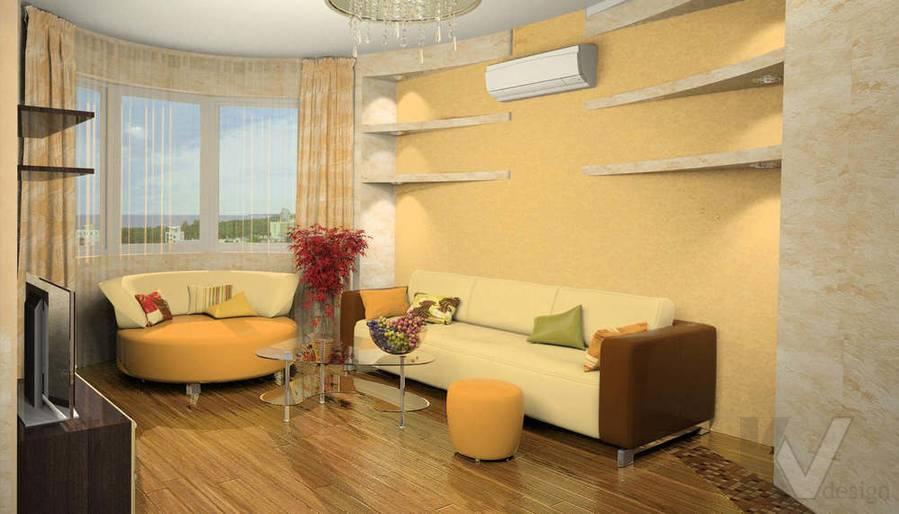 Дизайн квартиры И-155, гостиная-3