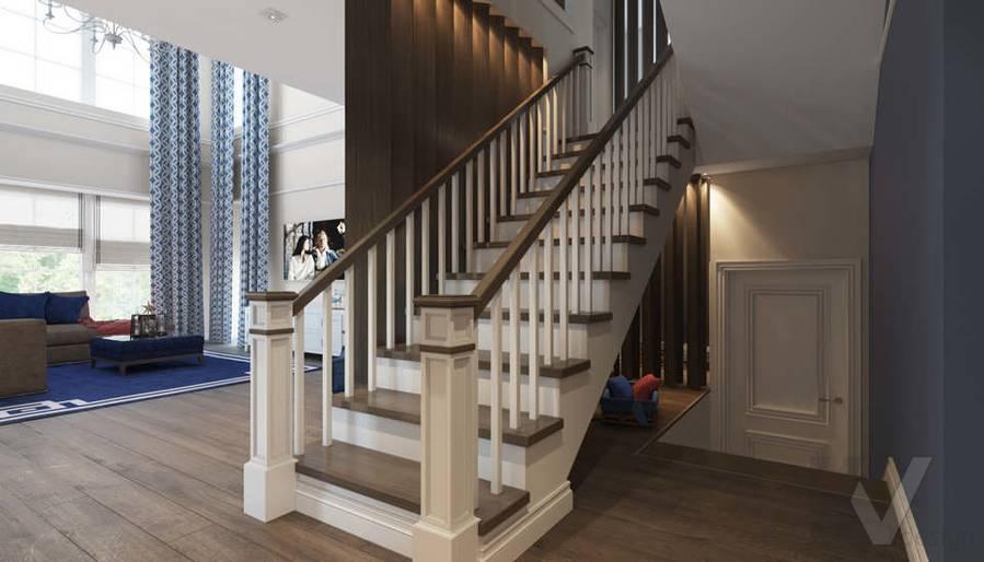 Дизайн лестничной зоны в коттедже, КП «Vita Verde» - 1