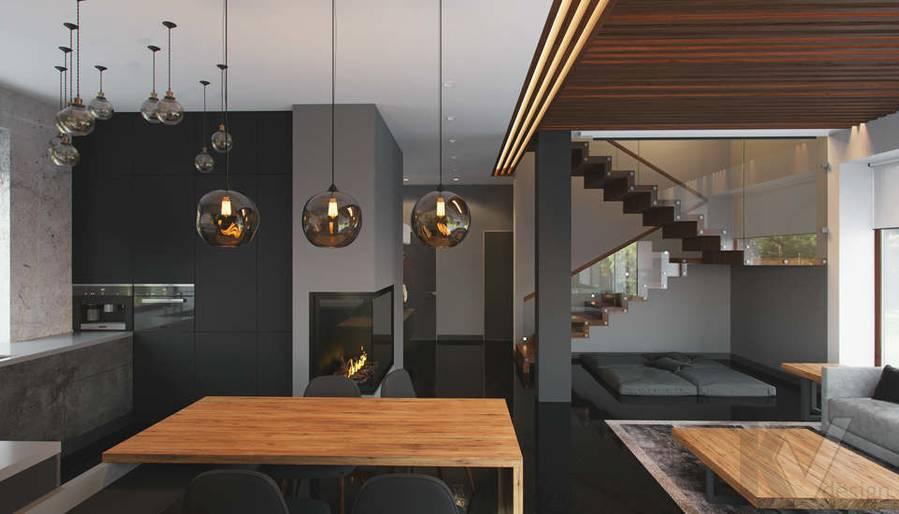 """Дизайн 1-го этажа в доме,  КП """"Западная Долина"""" - 2"""
