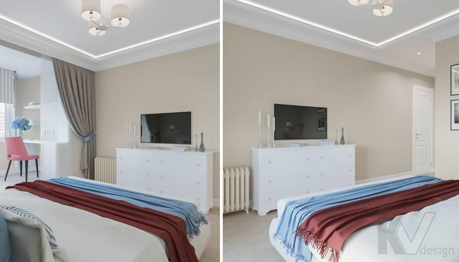 Дизайн спальни в квартире П-44Т, Переделкино Ближнее - 2