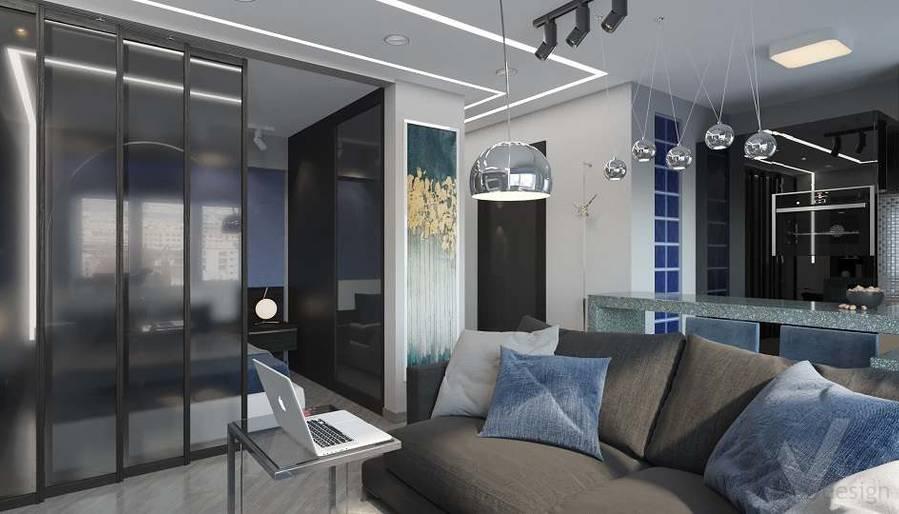 дизайн 1-комнатной квартиры, Красная Пресня - 4