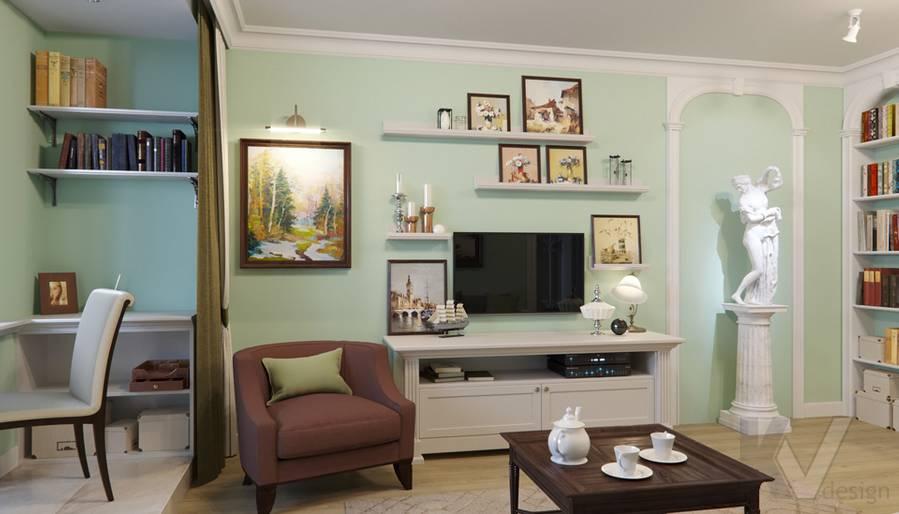 Дизайн гостиной в квартире в Крылатском - 5