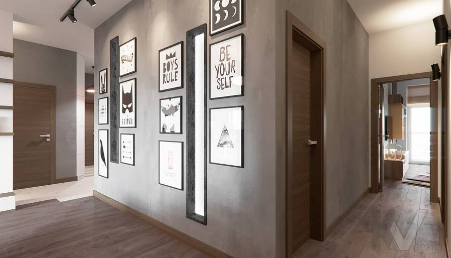 Дизайн коридора в ЖК «На Циолковского» - 1