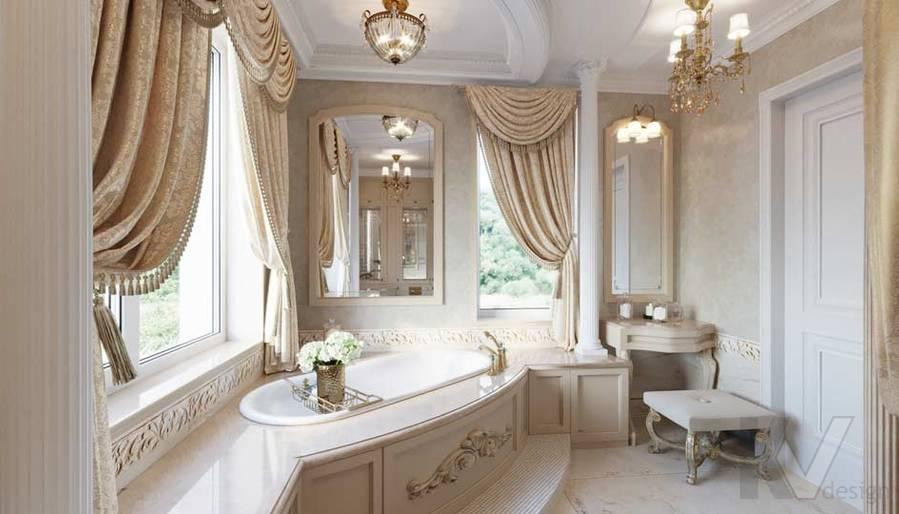 Ванная комната в загородном доме, Медвежьи Озера - 4
