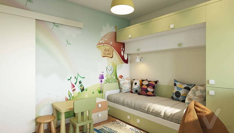 Дизайн детской в 2-комнатной квартире П-44Т, Московский - 2