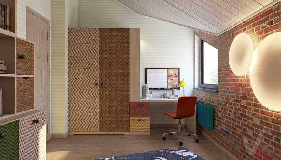 Дизайн детской мальчика в трехэтажном доме - 2