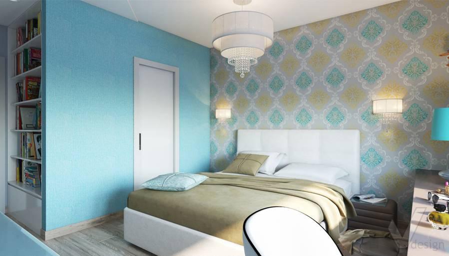 дизайн спальни в 3-комнатной квартире, Welton Park - 2