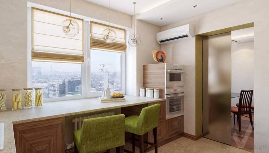 дизайн кухни в четырехкомнатной квартире П-3М - 2