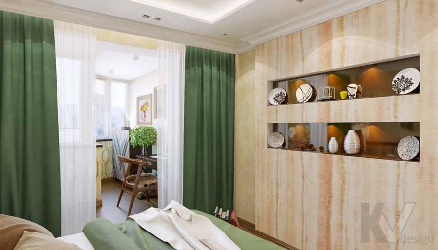 дизайн спальни в четырехкомнатной квартире П-3М - 3