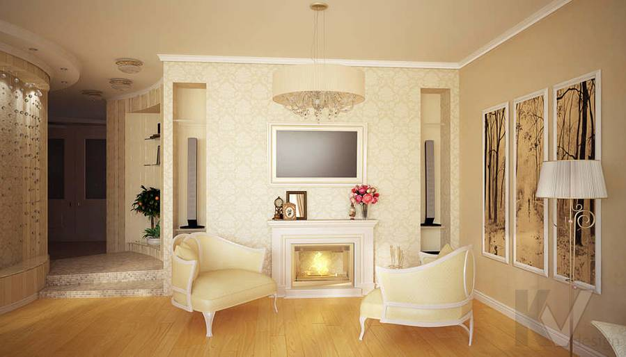 Дизайн квартиры на м. Смоленская, гостиная - 4