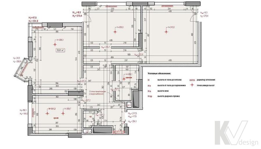 планировка 3-комнатной квартиры в ЖК Лосиный Остров