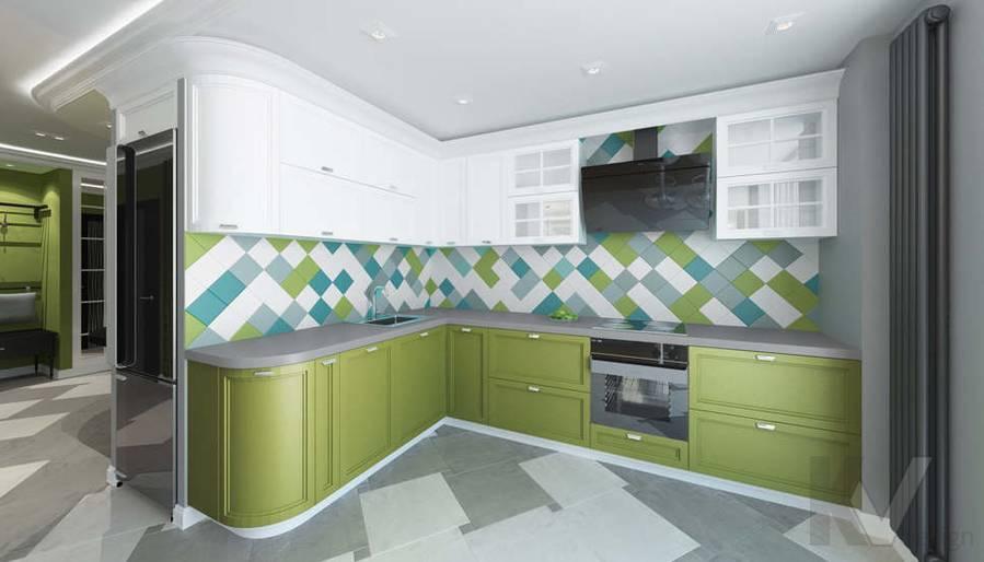 Дизайн гостиной в 5-комнатной квартире, Климовск - 5