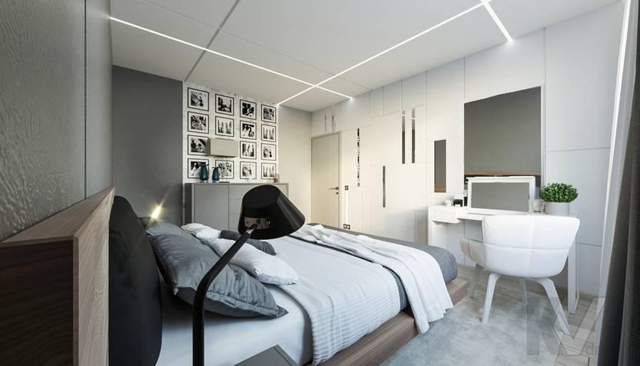 Спальня в 3-комнатной квартире П-44Т, Медведково - 4