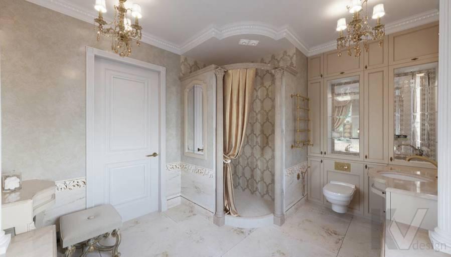 Ванная комната в загородном доме, Медвежьи Озера - 2