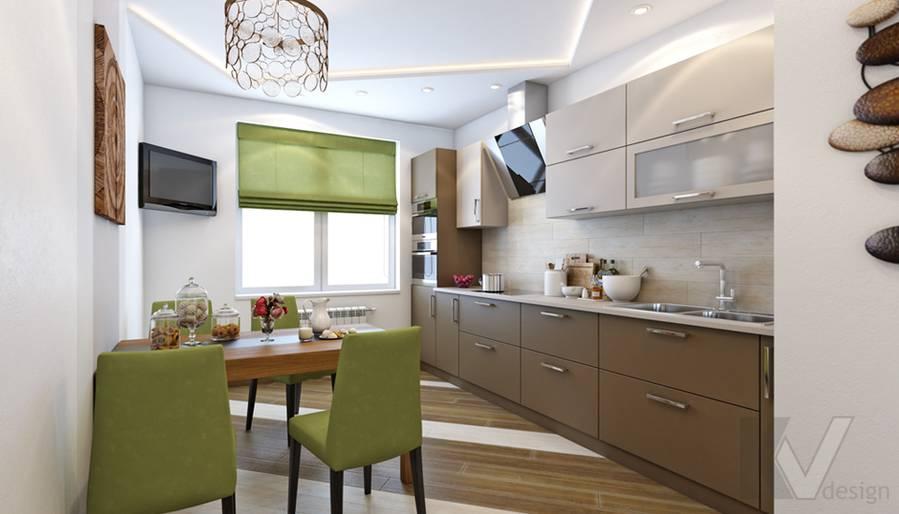 Дизайн кухни в 4-комнатной квартире, м. Киевская - 1