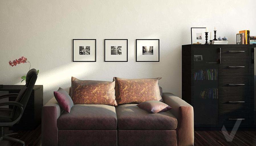 Декорирование квартиры в ЖК Квартал, кабинет - 3
