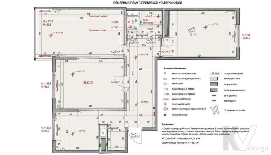 Планировка квартиры в ЖК Union Park