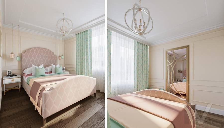 Дизайн спальни в квартире на м. Смоленская - 1
