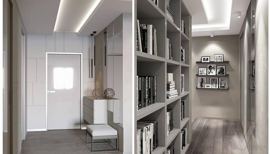 Прихожая в проекте объединения квартир, Мытищи - 1
