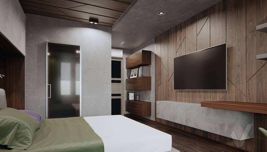 Спальня в 3-комн. квартире на Варшавском шоссе - 3