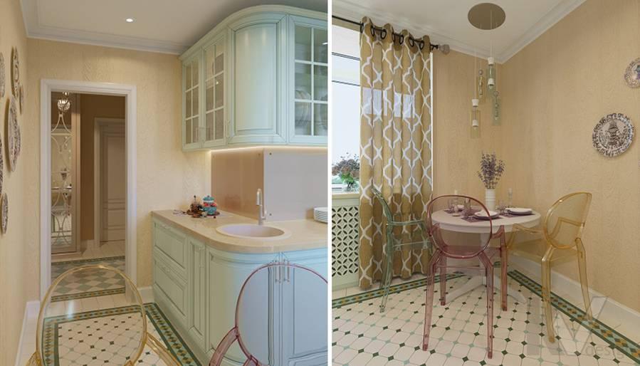 Дизайн кухни в квартире на м. Смоленская - 3