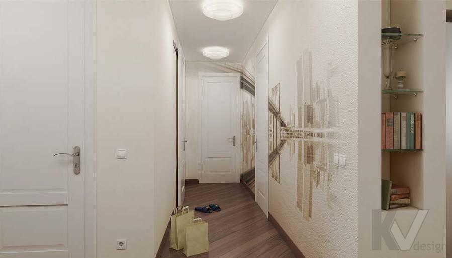 Дизайн 3 комнатной квартиры ЖК Богородский, прихожая - 2
