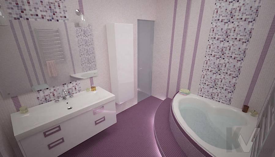 Дизайн трехкомнатной квартиры, ЖК Аэробус, ванная