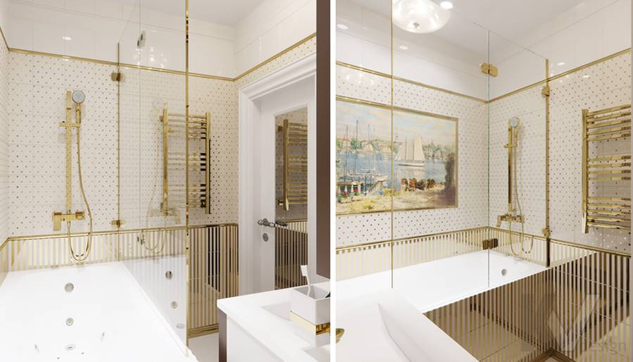 Дизайн ванной в квартире в Крылатском - 2