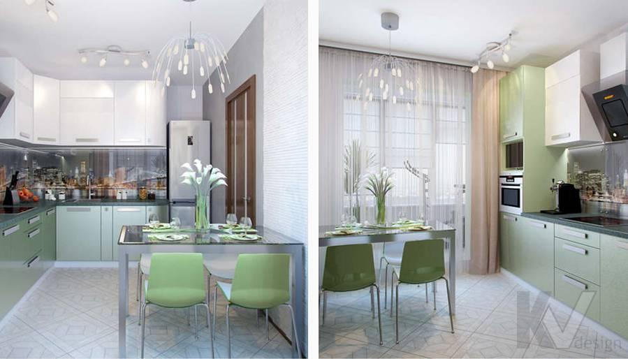 Дизайн кухни в 2-комнатной квартире - 3