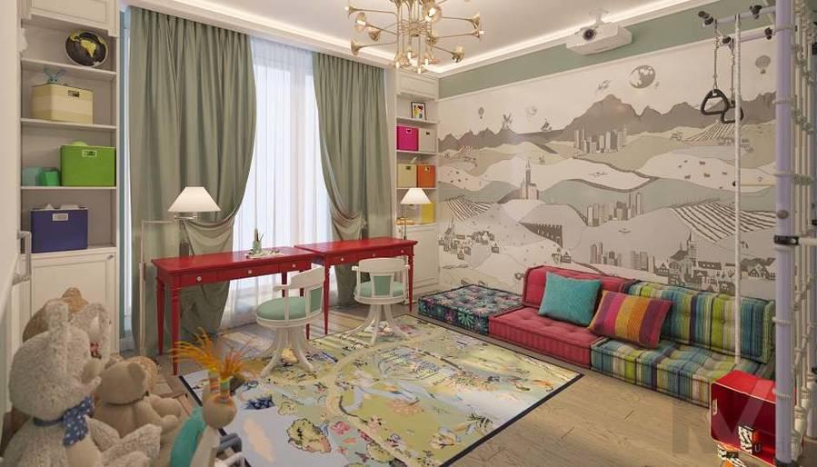 Дизайн игровой комнаты в доме, КП «Парк Авеню» - 1