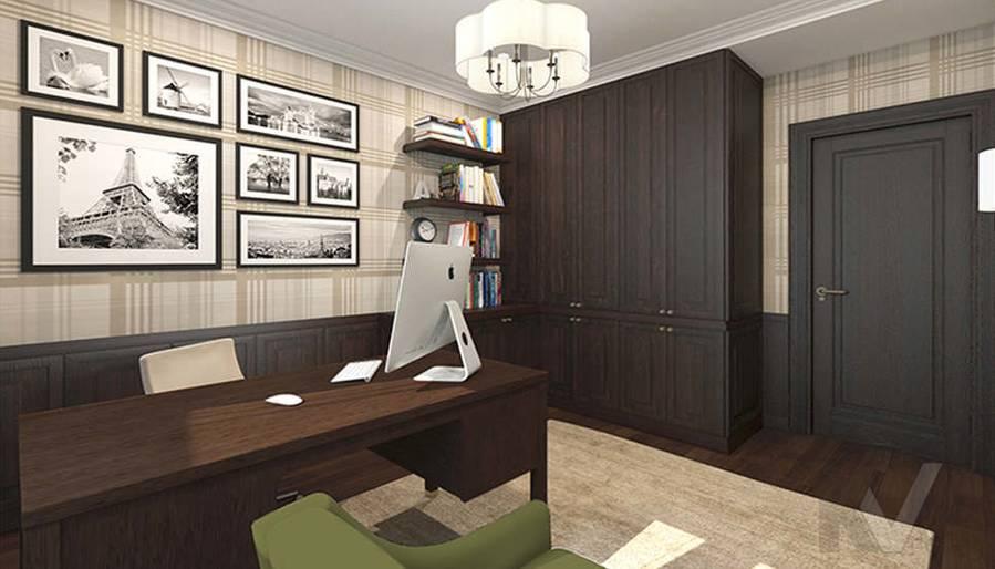 дизайн кабинета в 3-комнатной квартире, Welton Park - 2