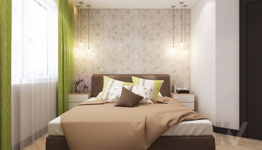 дизайн спальни в квартире П-3М, Владыкино - 1