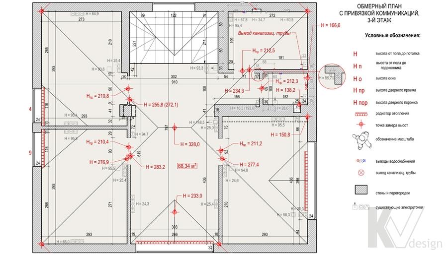 Планировка 3-го этажа в доме, деревня Федоровка