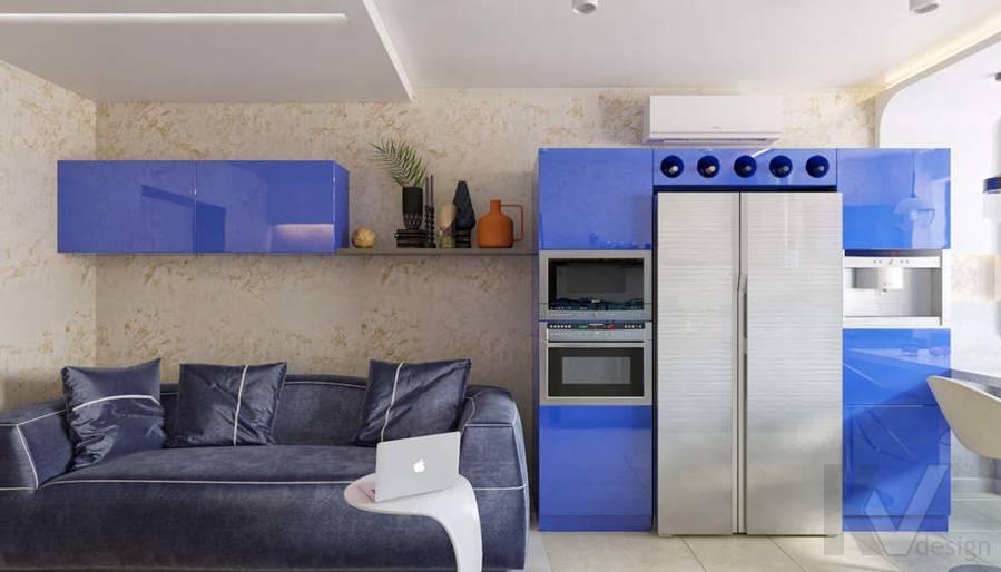 дизайн гостиной-кухни в 3-комн. квартире, ЖК Некрасовка Парк - 4